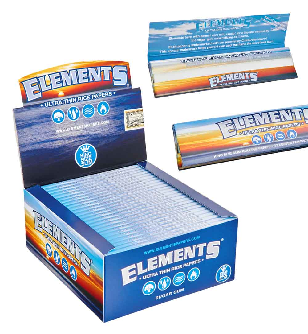 50 Pack Of Premium Elements Rice Rolling Papers