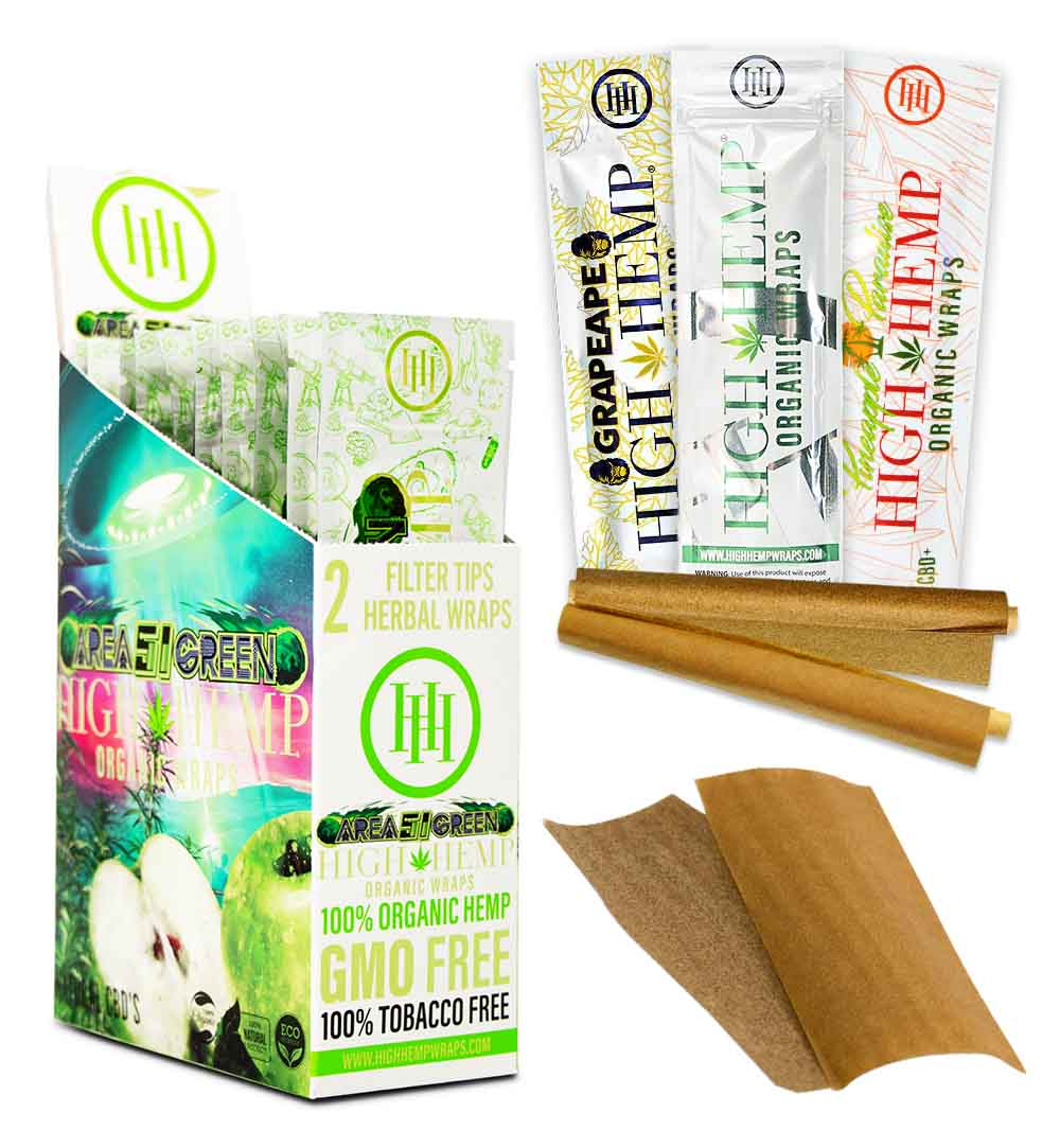 Two Organic, Hemp-Based Blunt Wraps Live Inside This Secure Packaging
