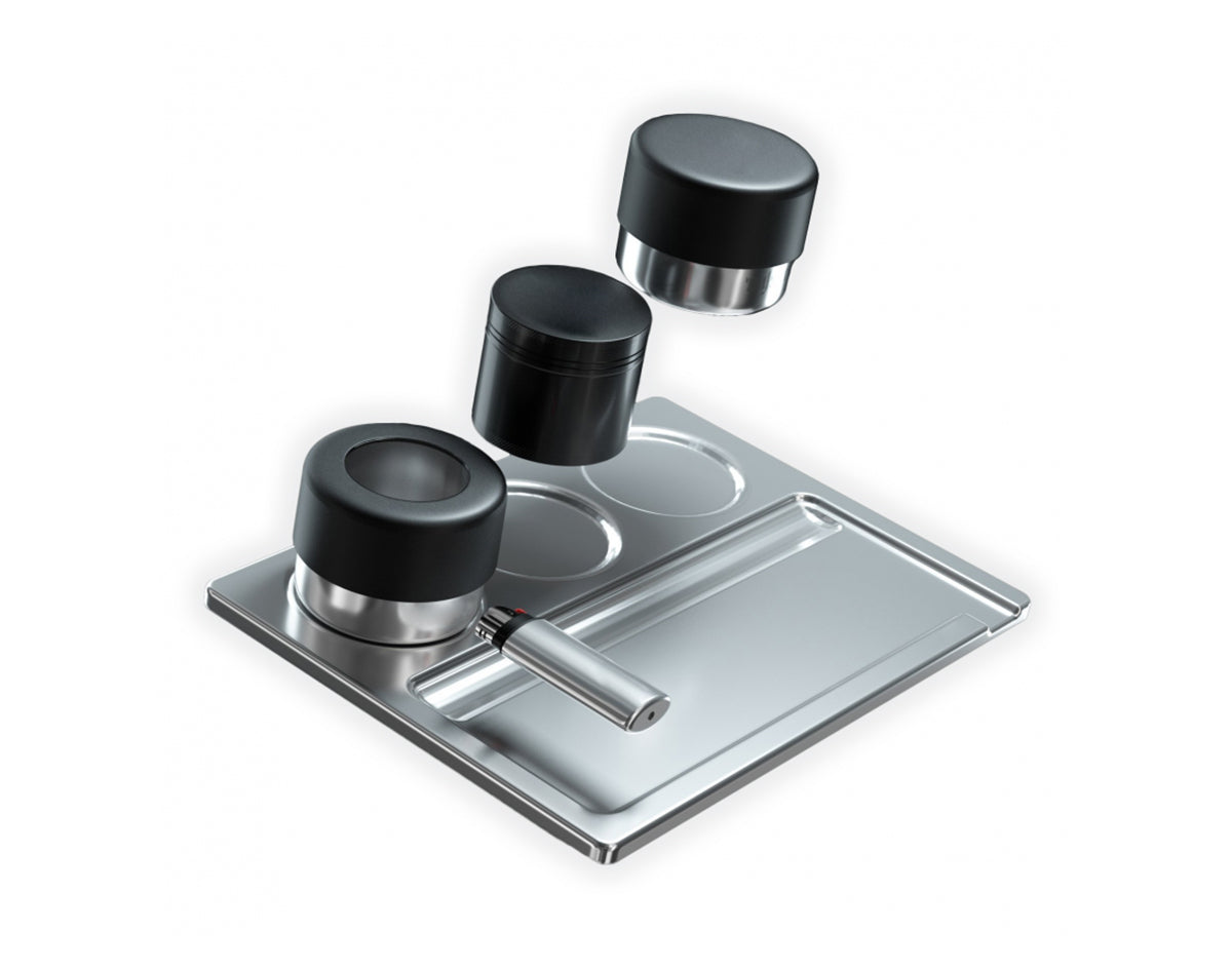 Stainless Steel Rolling Tray With Compartments | Marijuana Packaging