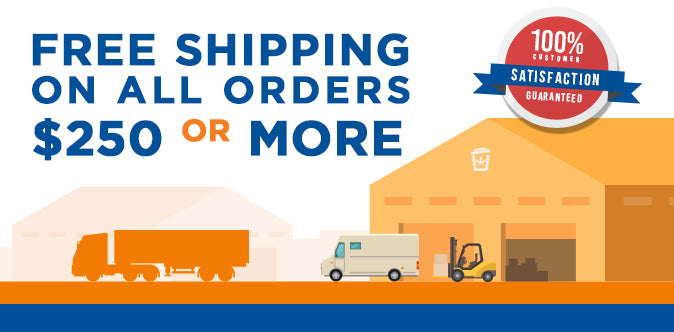 Free shipping on orders over $250