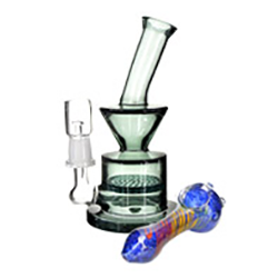 Glass and metal water pipes