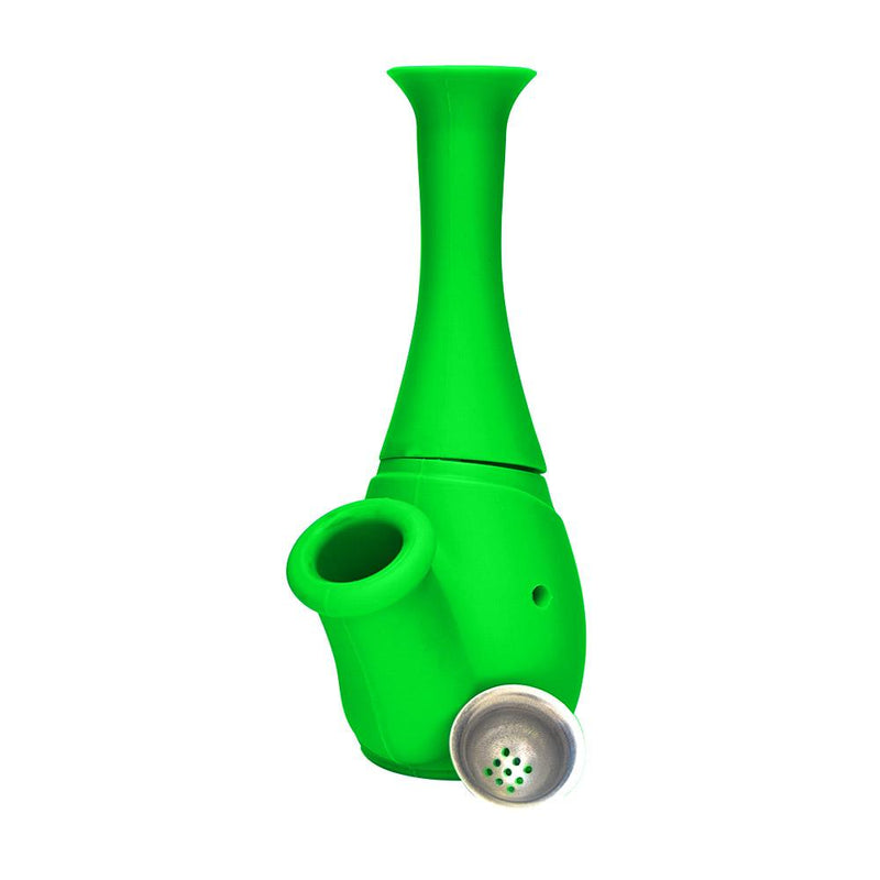 Silicone Flower Bottle Water Pipe - Green