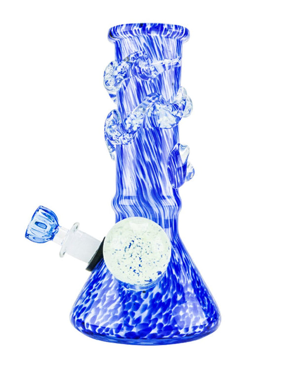 "8"" Thick Blue Spiral Water Pipe 14mm 