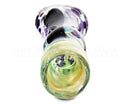 Dichro & Gold Fumed Chillum Hand Pipe w/ Ribboning | 3in Long - Glass - Assorted