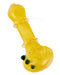Frit Ringed Spoon Hand Pipe w/ Triple Knockers | 4.5in Long - Glass - Assorted