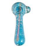 Frit & Fumed Spoon Hand Pipe w/ Knocker | 5in Long - Glass - Assorted