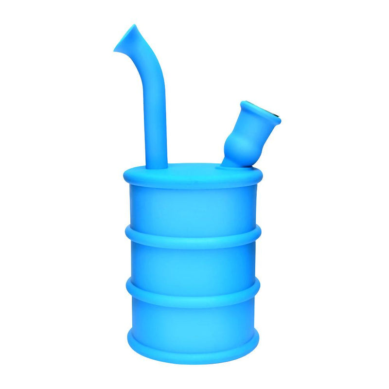 Silicone Oil Can Water Pipe - Blue