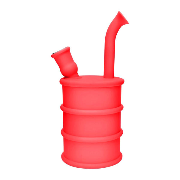 Silicone Oil Can Water Pipe - Red