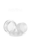 Clear Concentrate Containers w/ Screw Top Cap & White Silicone Insert | 10mL - Plastic - 100 Count
