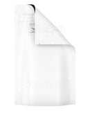 Child Resistant & Tamper Evident | DymaPak White Mylar Bag | 6in x 9.8in - 28g - 1000 Count