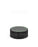 Child Resistant | Ribbed Push & Turn Cap with Text | 38mm - Glossy Black Plastic - 320 Count