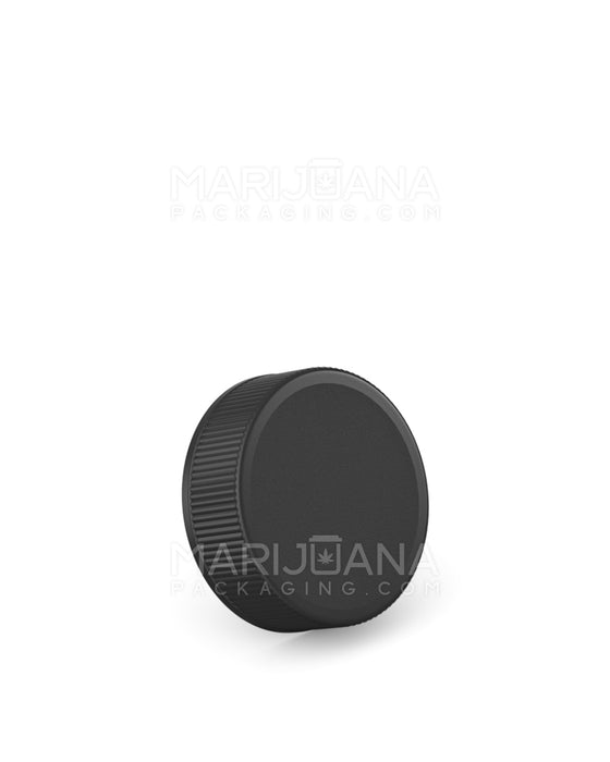 Ribbed Screw Top Cap | 28mm - Black Plastic - 250 Count