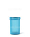6 Dram Hinged Lid Vials - Blue - 600 Count