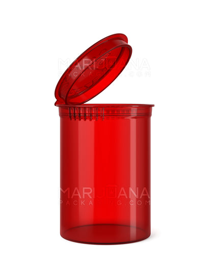 Transparent Red CR Pop Top Bottle 30 Dram - 150 Count