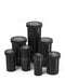 Child Resistant | Opaque Black Push Down & Turn Cap Vial | 40dr - 10g - 135 Count