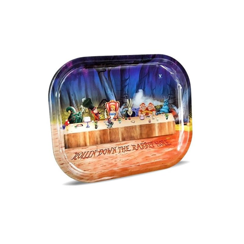 "Alice Tea Party Rolling Tray - 7"" x 5.5"""