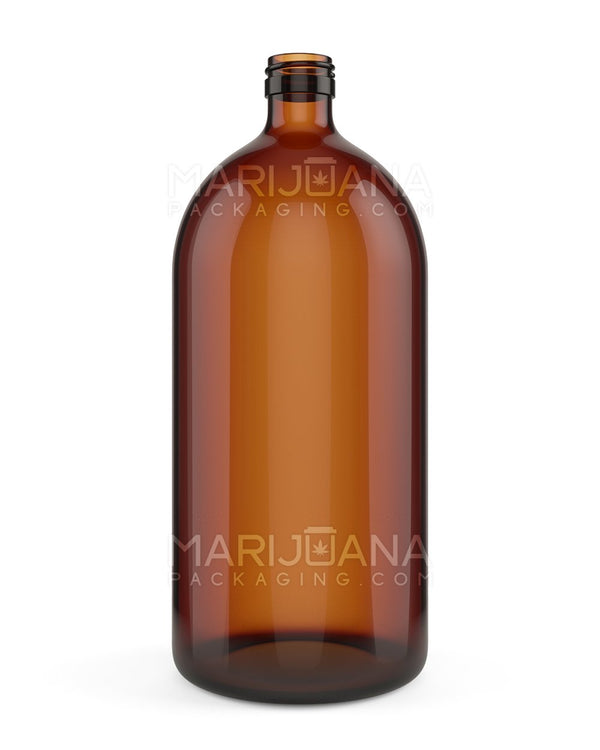 Amber Glass Bottles | 28mm - 1000ml - 14 Count | Dispensary Supply | Marijuana Packaging