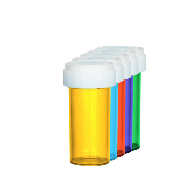 Assorted Colors Reversible Cap Vial 13 Dram