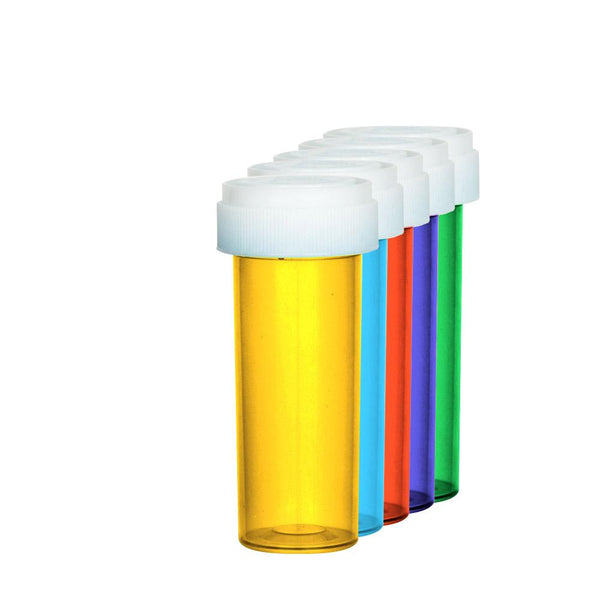 Assorted Colors Reversible Cap Vial 16 Dram