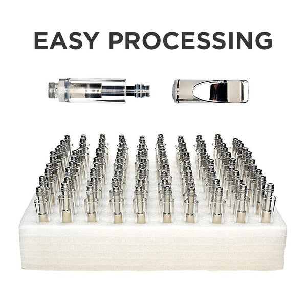 Buttonless Vaporizer Glass Cartridge w/ 1.6mm Hole - 0.5ml