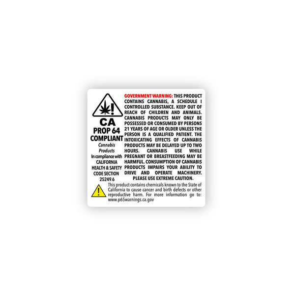 "California Prop 64 Compliance Labels 2"" x 2"" - 1,000 Count"