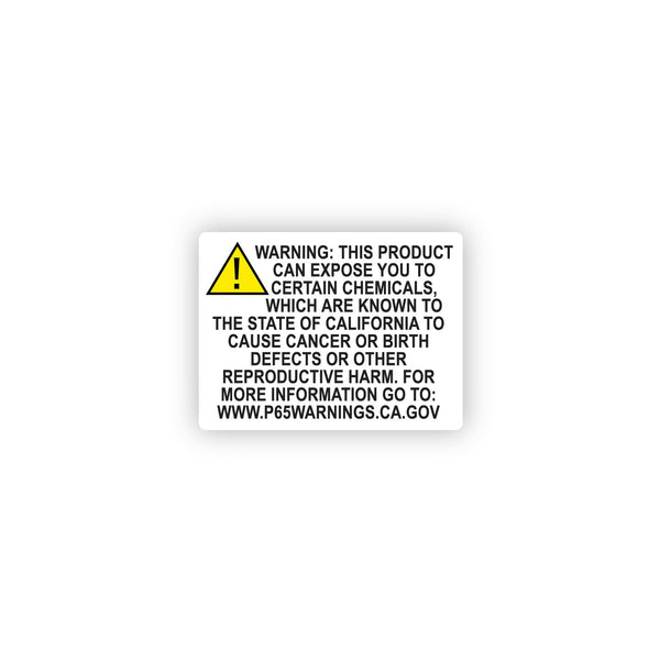 "California Prop 65 Chemical Warning Compliance Label 2"" x 1.5"" - 1000 Count"