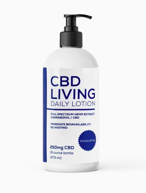 CBD Living Eucalyptus Lotion 250mg
