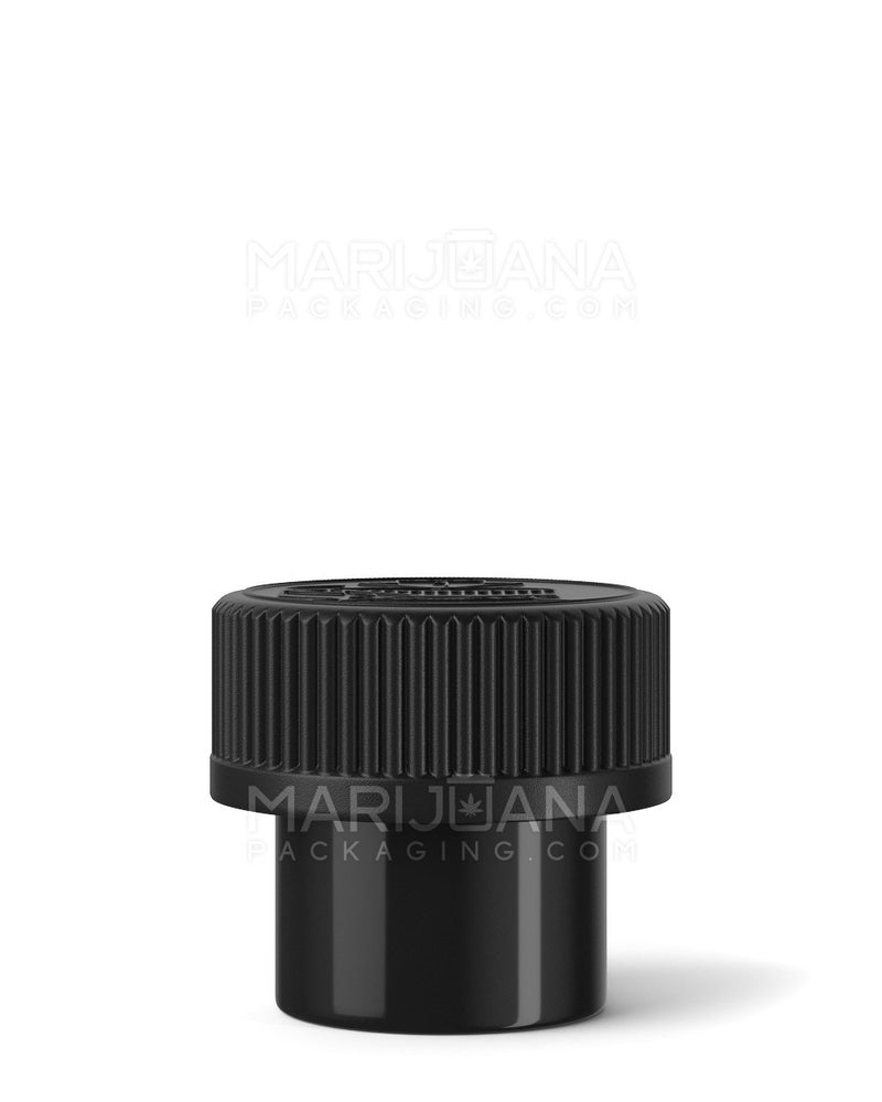 Child Resistant | Black Push Down & Turn Concentrate Container 15ml – 500 Count | Dispensary Supply | Marijuana Packaging