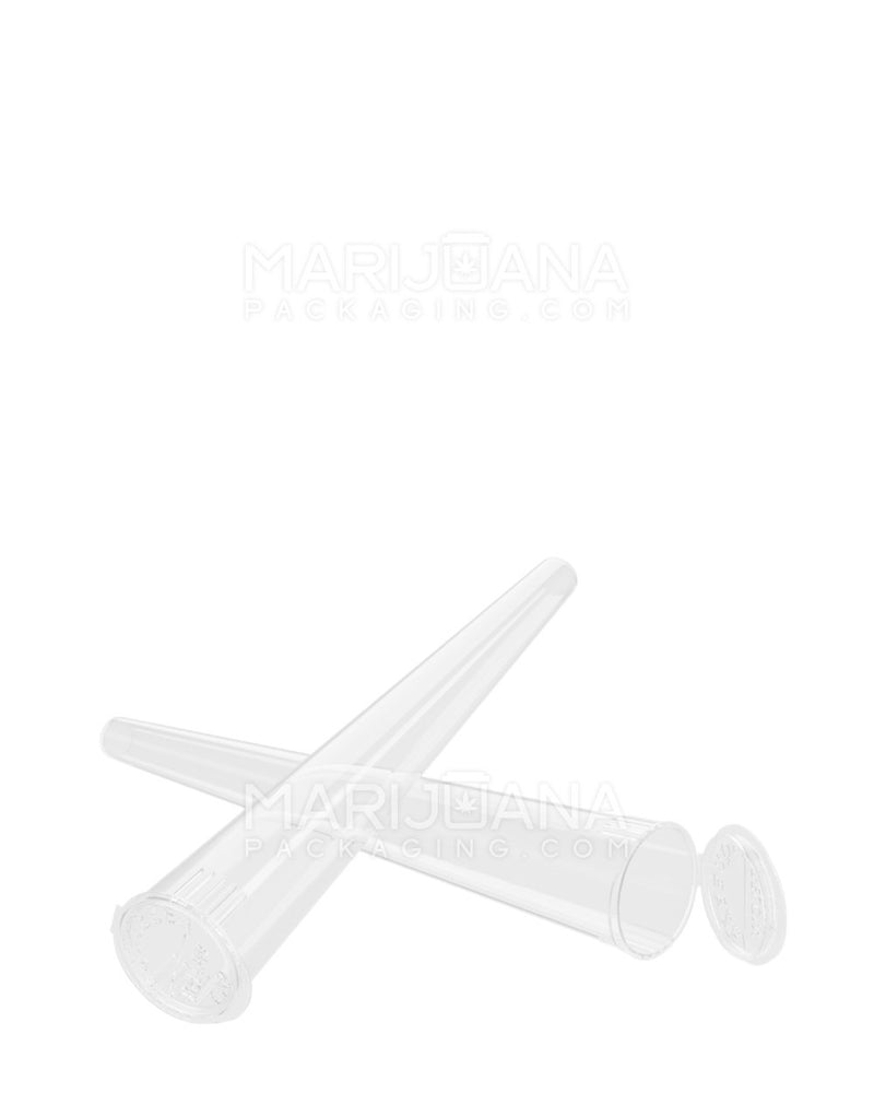 Child Resistant | Conical Pop Top Pre-Roll Tubes | 109mm - Clear Plastic - 1000 Count | Dispensary Supply | Marijuana Packaging