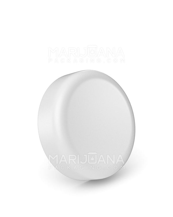 Child Resistant | Dome Push Down & Turn Caps | 63mm - White Plastic - 96 Count | Dispensary Supply | Marijuana Packaging