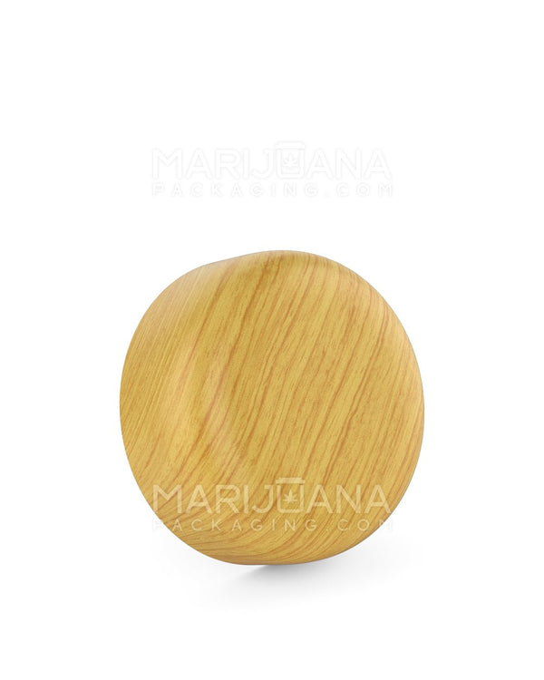Child Resistant | Dome Screw Top Caps | 53mm - Ash Wood Plastic - 120 Count | Dispensary Supply | Marijuana Packaging