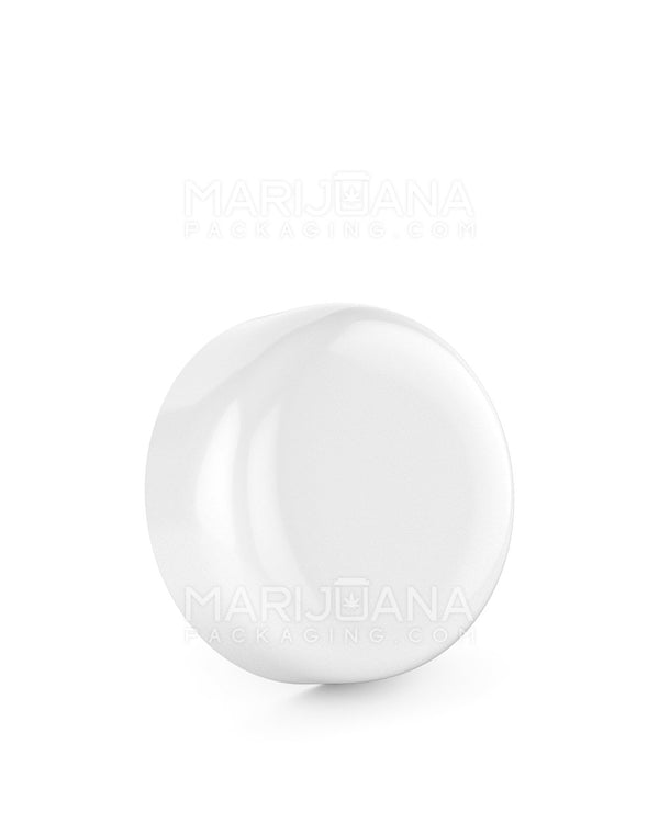 Child Resistant | Dome Screw Top Caps | 53mm - Glossy White Plastic - 120 Count | Dispensary Supply | Marijuana Packaging