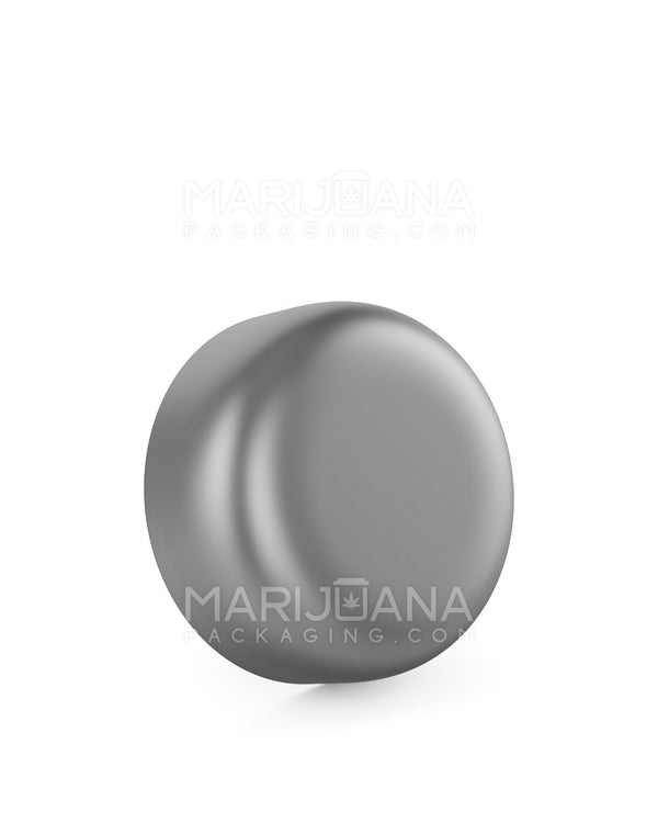 Child Resistant | Dome Screw Top Caps | 53mm - Matte Silver Plastic - 120 Count | Dispensary Supply | Marijuana Packaging