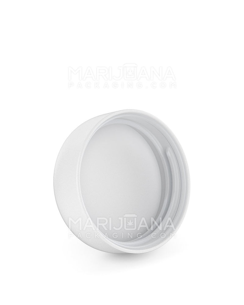 Child Resistant | Dome Screw Top Caps | 53mm - Matte White Plastic - 120 Count | Dispensary Supply | Marijuana Packaging