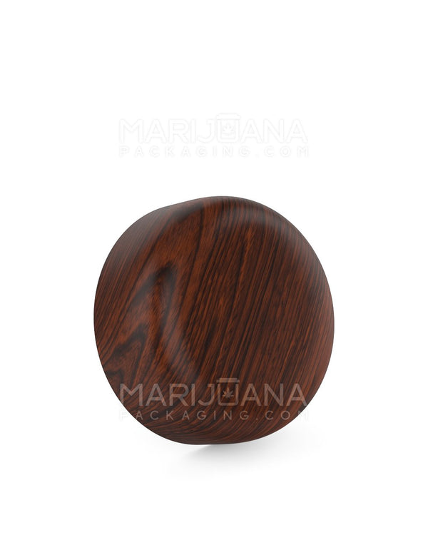 Child Resistant | Dome Screw Top Caps | 53mm - Redwood Wood Plastic - 120 Count | Dispensary Supply | Marijuana Packaging