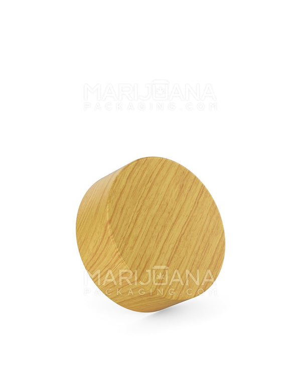 Child Resistant | Flat Screw Top Caps | 38mm - Ash Wood Plastic - 320 Count | Dispensary Supply | Marijuana Packaging