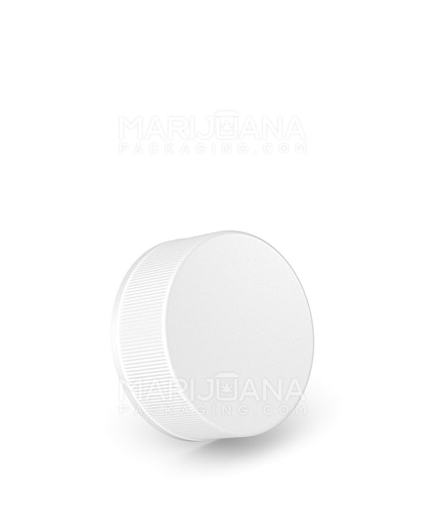 Child Resistant | Foil Lined Ribbed Push Down and Turn Caps | 38mm - White Plastic - 320 Count | Dispensary Supply | Marijuana Packaging