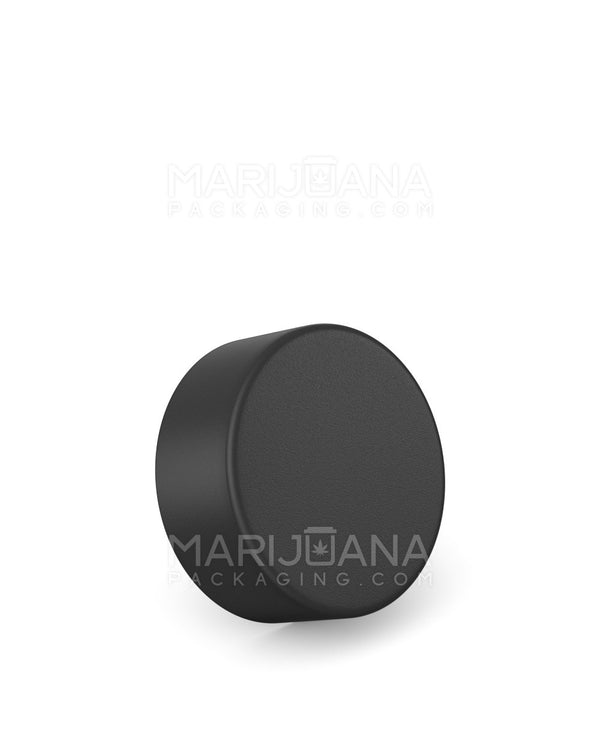 Child Resistant | Foil Lined Smooth Push Down & Turn Caps | 38mm - Black Plastic - 320 Count | Dispensary Supply | Marijuana Packaging