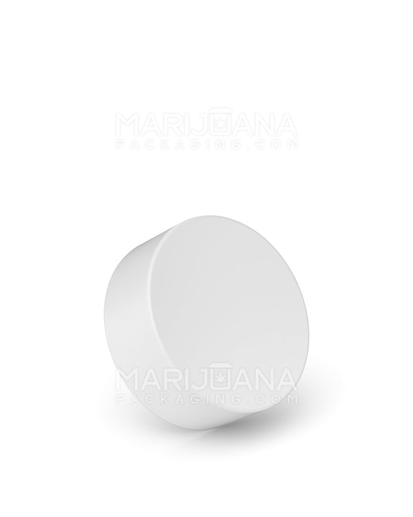 Child Resistant | Foil Lined Smooth Push Down & Turn Caps | 38mm - Matte White Plastic - 320 Count | Dispensary Supply | Marijuana Packaging
