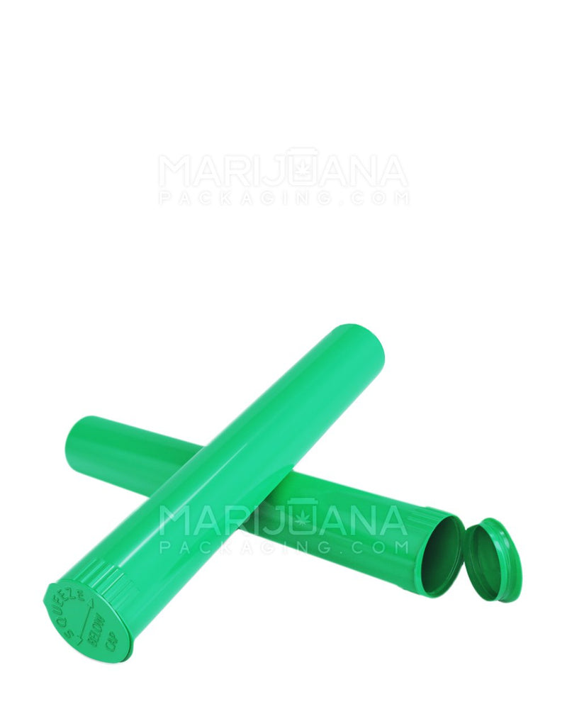 Child Resistant | King Size Pop Top Pre-Roll Tubes | 116mm - Opaque Green Plastic - 1000 Count | Dispensary Supply | Marijuana Packaging
