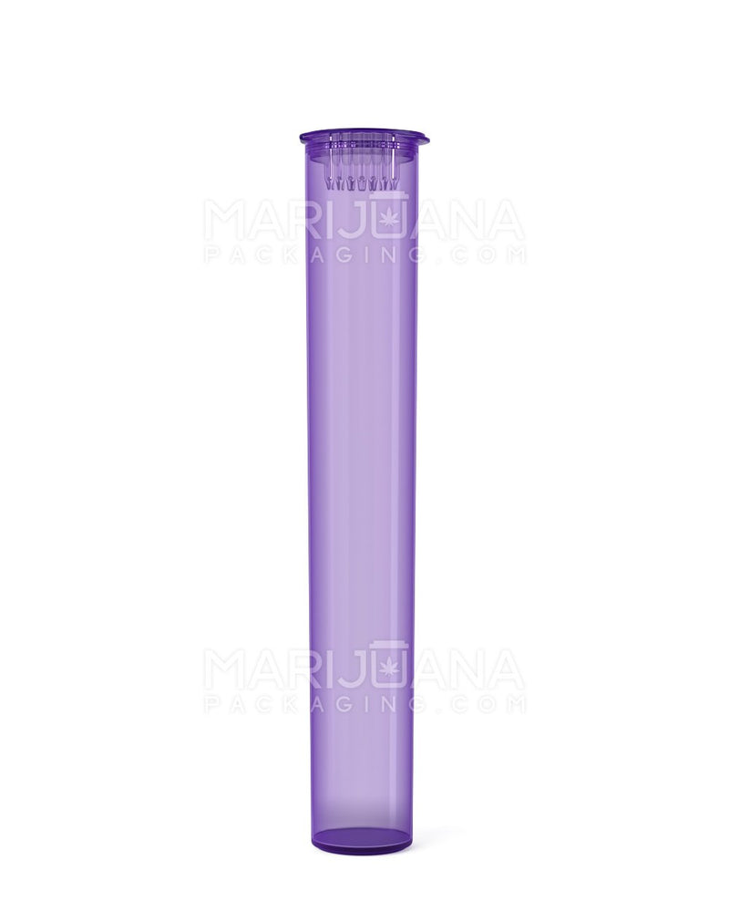 Child Resistant | King Size Pop Top Pre-Roll Tubes | 116mm - Translucent Purple Plastic - 1000 Count | Dispensary Supply | Marijuana Packaging