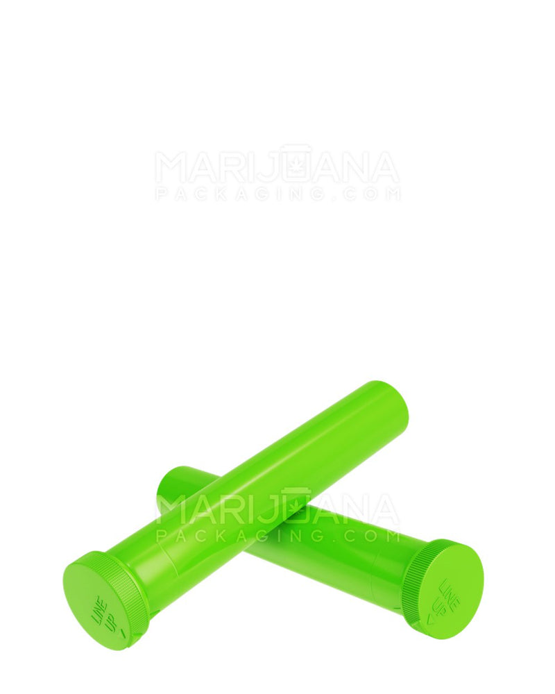 Child Resistant | 'Line-Up Arrow' Pre-Roll Tubes | 94mm - Opaque Green Plastic - 750 Count | Dispensary Supply | Marijuana Packaging