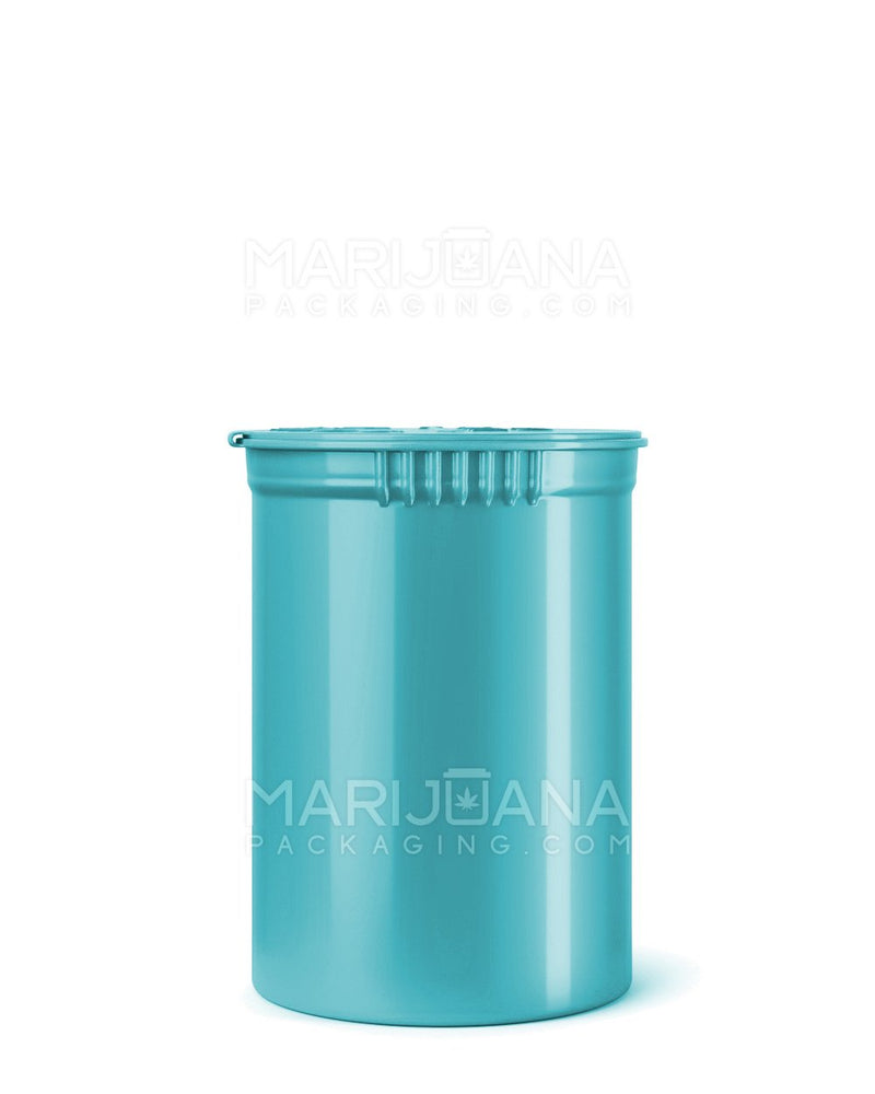 Child Resistant | Opaque Aqua Pop Top Bottles | 30dr - 7g - 150 Count | Dispensary Supply | Marijuana Packaging