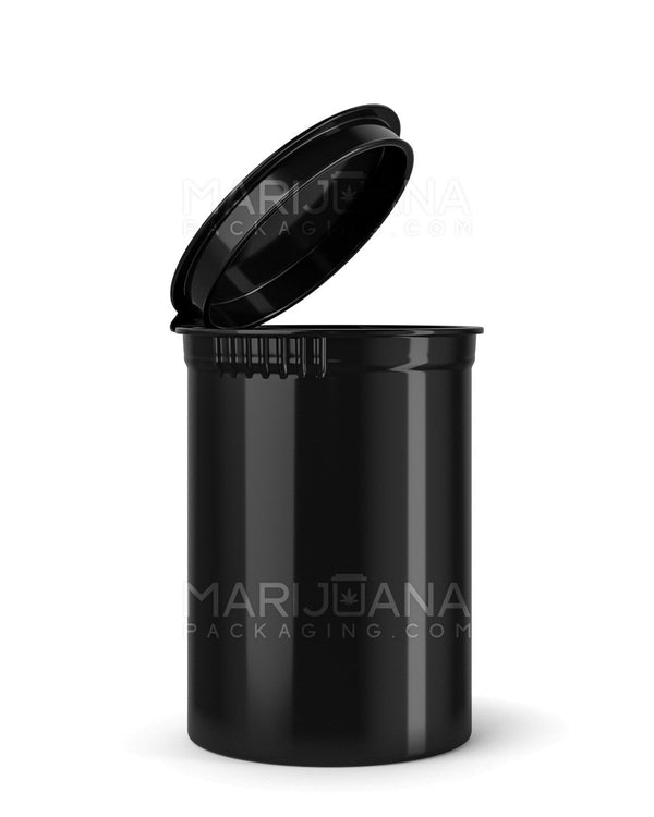 Child Resistant | Opaque Black Pop Top Bottles | 30dr - 7g - 150 Count | Dispensary Supply | Marijuana Packaging