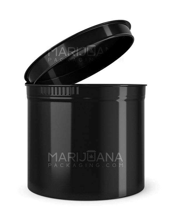 Child Resistant | Opaque Black Pop Top Bottles | 90dr - 21g - 64 Count | Dispensary Supply | Marijuana Packaging