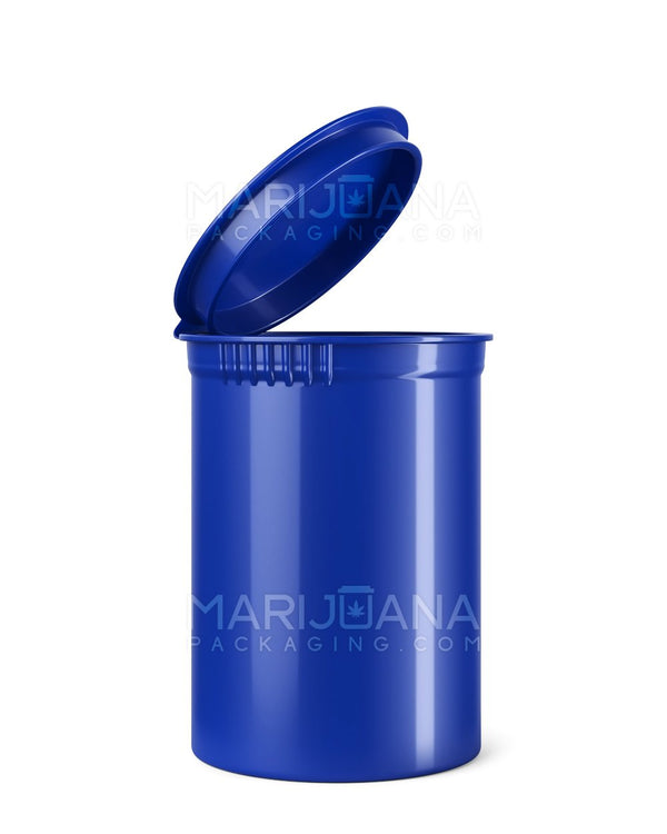 Child Resistant | Opaque Blueberry Pop Top Bottles | 30dr - 7g - 150 Count | Dispensary Supply | Marijuana Packaging