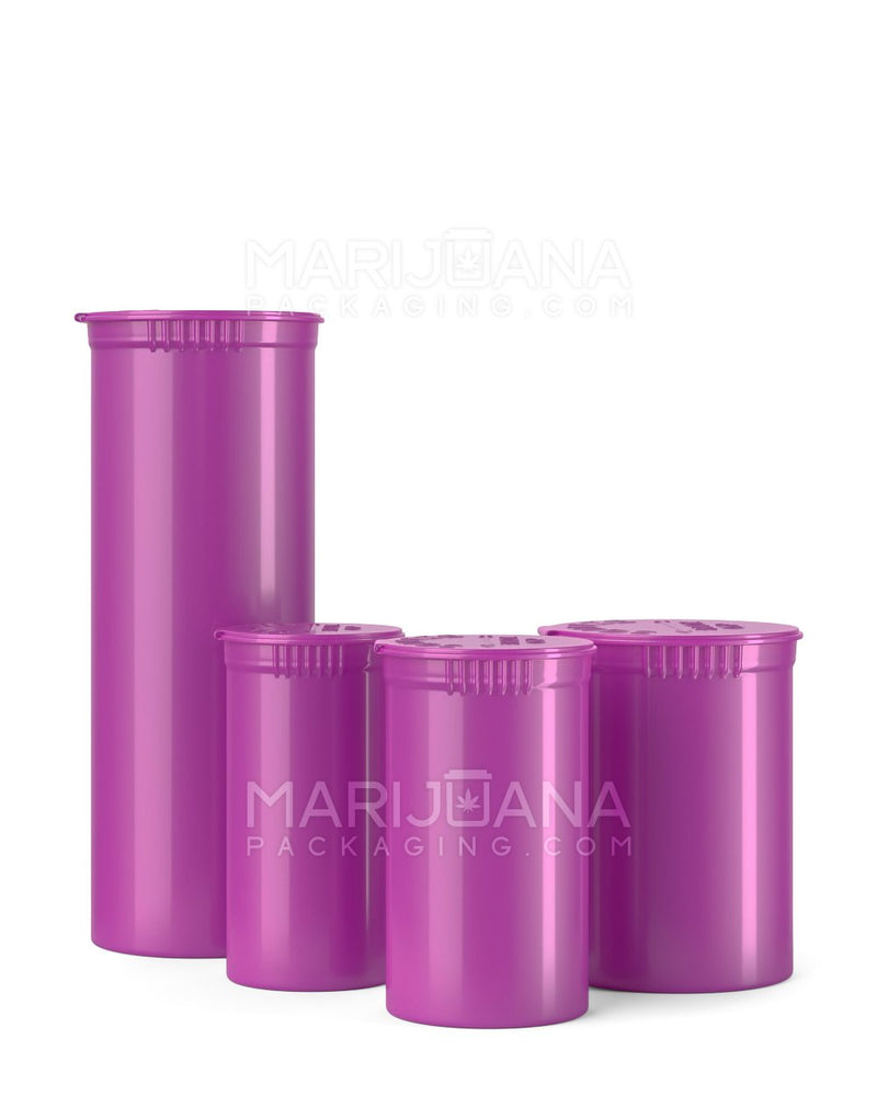 Child Resistant | Opaque Grape Pop Top Bottles | 60dr - 14g - 150 Count | Dispensary Supply | Marijuana Packaging