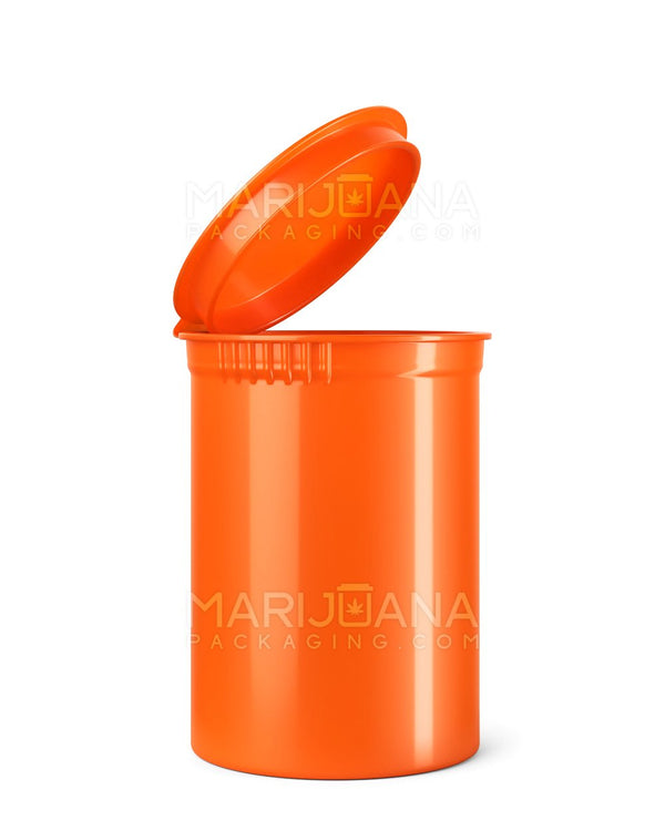 Child Resistant | Opaque Mango Pop Top Bottles | 30dr - 7g - 150 Count | Dispensary Supply | Marijuana Packaging