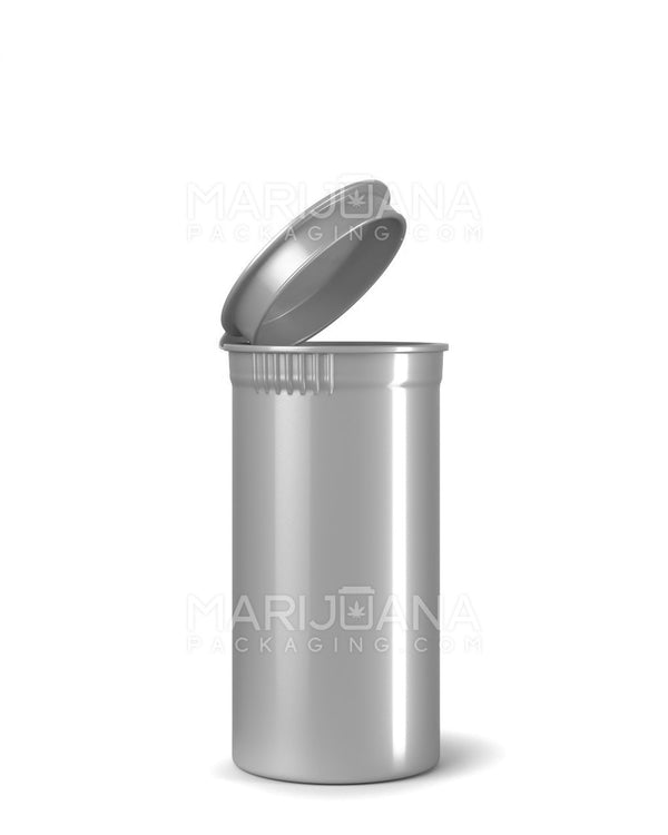 Child Resistant | Opaque Silver Pop Top Bottles | 13dr -2g - 315 Count | Dispensary Supply | Marijuana Packaging