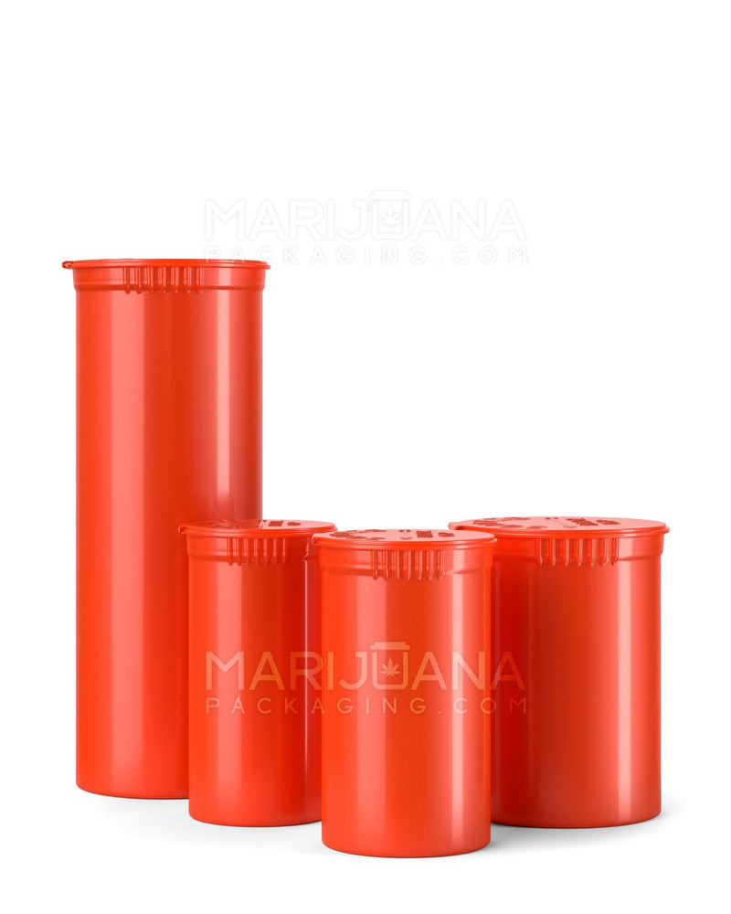 Child Resistant | Opaque Strawberry Pop Top Bottles | 13dr -2g - 315 Count | Dispensary Supply | Marijuana Packaging